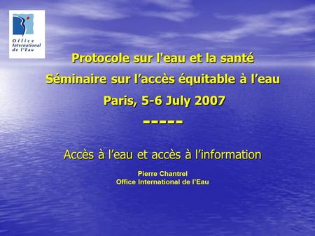 Office International de l'Eau