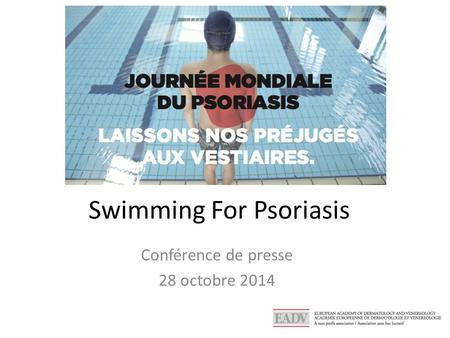 Swimming For Psoriasis Conférence de presse 28 octobre 2014.