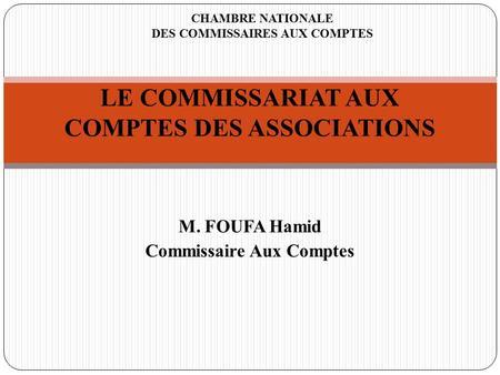 Atelier a 01 compl mentarit expert comptable - Chambre nationale des commissaires priseurs ...