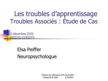 Elsa Peiffer Neuropsychologue