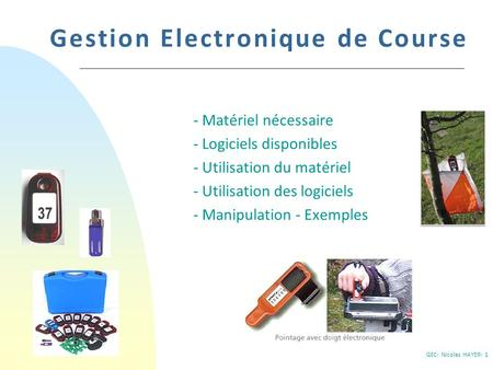Gestion Electronique de Course