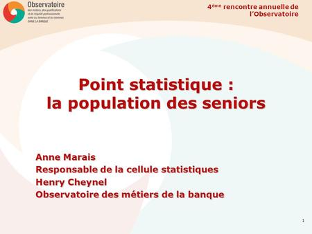 Point statistique : la population des seniors