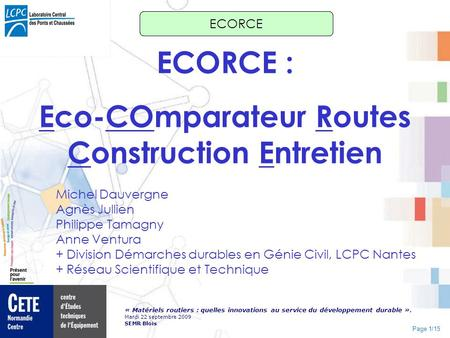 Eco-COmparateur Routes Construction Entretien