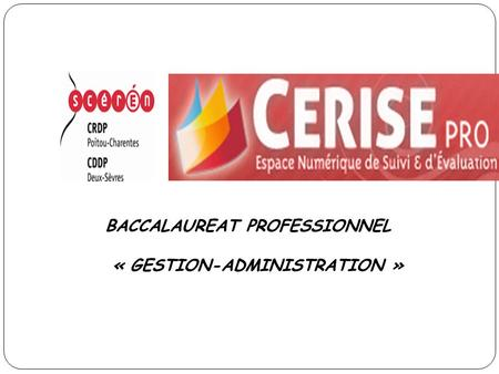 BACCALAUREAT PROFESSIONNEL « GESTION-ADMINISTRATION »