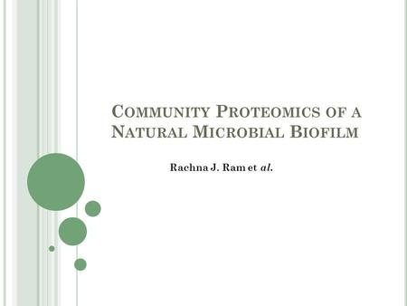 Community Proteomics of a Natural Microbial Biofilm