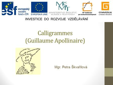 Calligrammes (Guillaume Apollinaire)