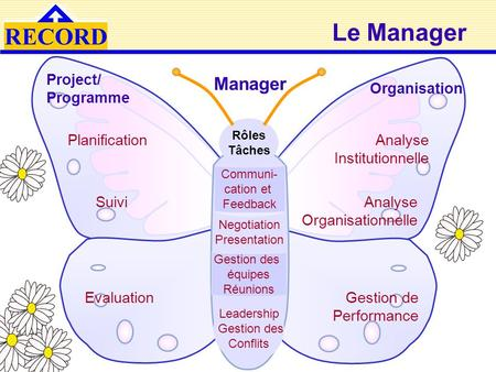 Le Manager Manager Project/ Programme Organisation Planification