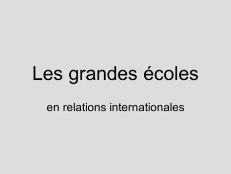 en relations internationales