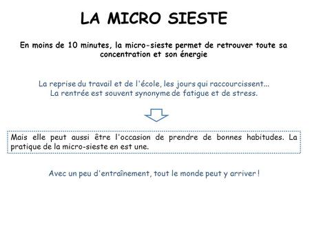 Gestion du stress et relaxation ppt t l charger for Micro sieste