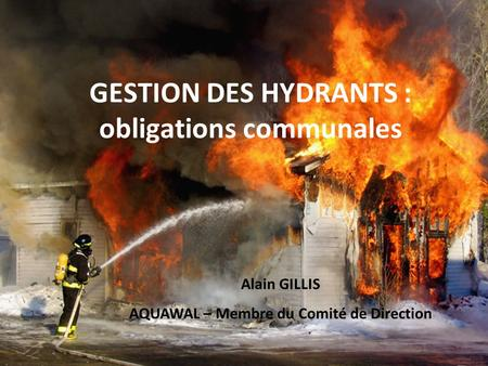 GESTION DES HYDRANTS : obligations communales