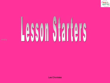 Amélie Les Choristes. Amélie Les Choristes A-Z Students have to think of a word related to the film starting with a particular letter. Mini white boards.