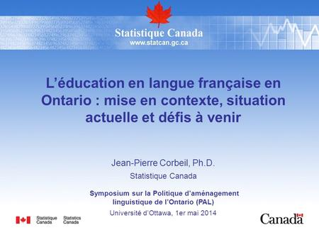 linguistique de l'Ontario (PAL)