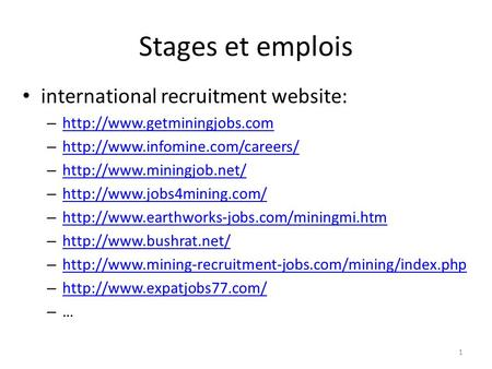 1 international recruitment website: –   –