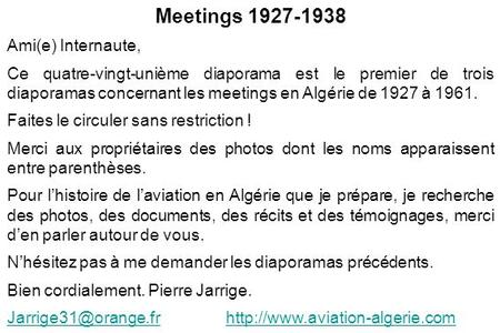 Meetings Ami(e) Internaute,