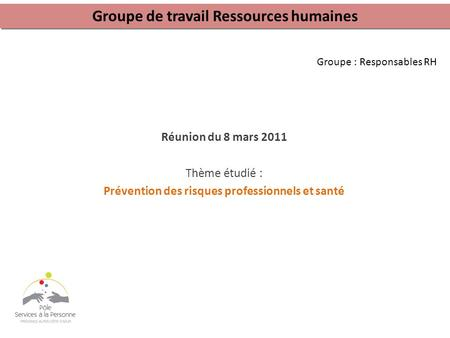 Groupe : Responsables RH