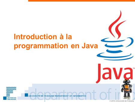 Introduction à la programmation en Java