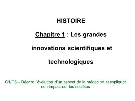 innovations scientifiques et