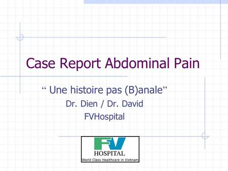 Case Report Abdominal Pain