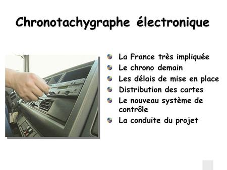 Chronotachygraphe électronique
