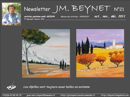 Newsletter JM. BEYNET N°21