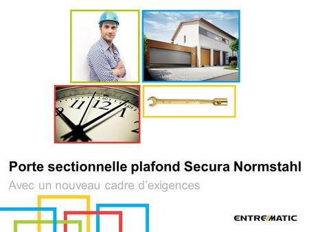 Porte sectionnelle plafond Secura Normstahl
