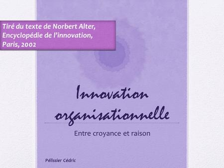 Innovation organisationnelle