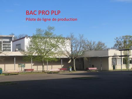 BAC PRO PLP Pilote de ligne de production.