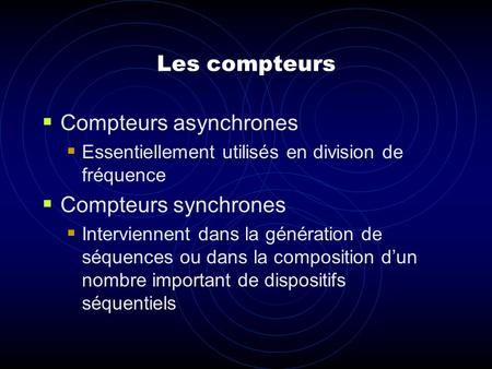 Compteurs asynchrones