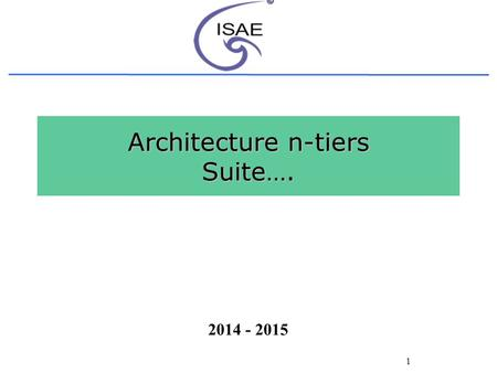Introduction aux environnements r partis ppt t l charger for N tier architecture in java