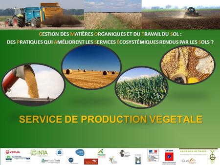 SERVICE DE PRODUCTION VEGETALE