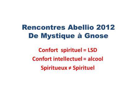 Rencontres mystiques