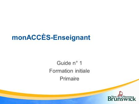 Guide n° 1 Formation initiale Primaire