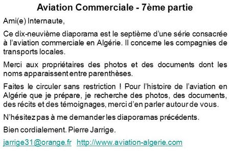Aviation Commerciale - 7ème partie