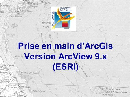 Prise en main d'ArcGis Version ArcView 9.x (ESRI)