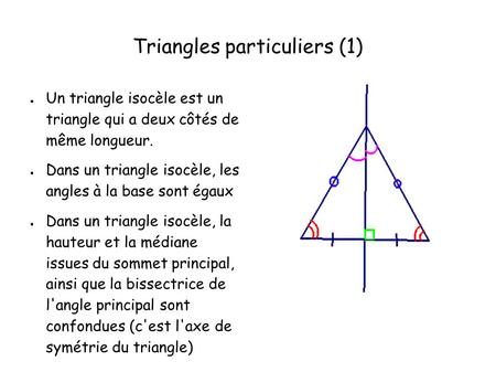 Triangles particuliers (1)