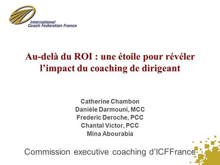 Commission executive coaching d'ICFFrance