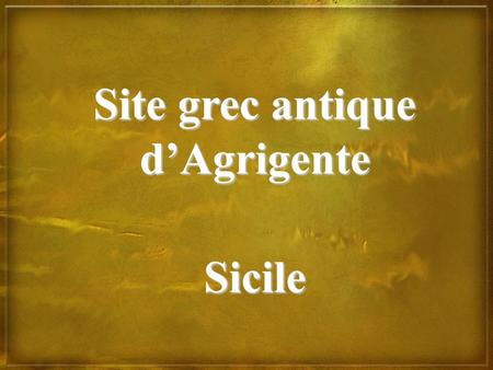 Site grec antique d'Agrigente