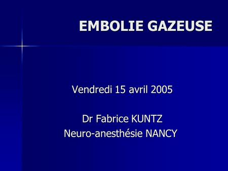 Neuro-anesthésie NANCY