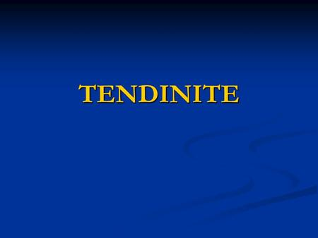 TENDINITE. EPAULE DOULOUREUSE SIMPLE Épaule douloureuse simple INTRODUCTION INTRODUCTION - atteinte non traumatique de l'épaule est due à un surmenage.