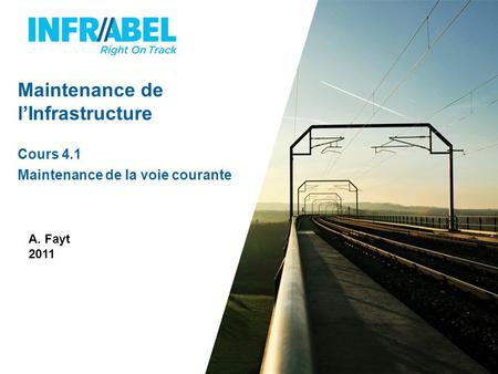 Maintenance de l'Infrastructure