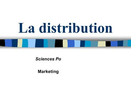 La distribution Sciences Po Marketing.