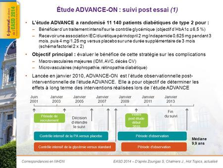 Étude ADVANCE-ON : suivi post essai (2)
