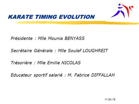 KARATE TIMING EVOLUTION