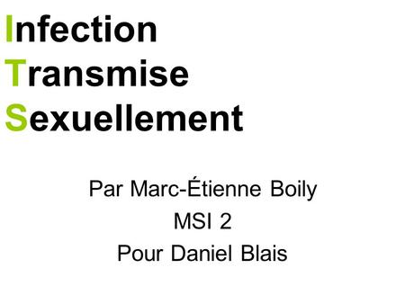 Infection Transmise Sexuellement