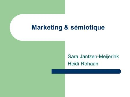Marketing & sémiotique