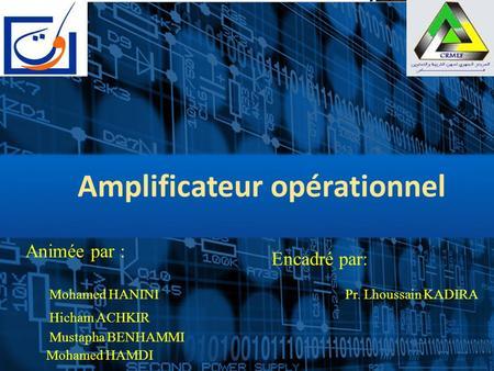 Amplificateur opérationnel cours
