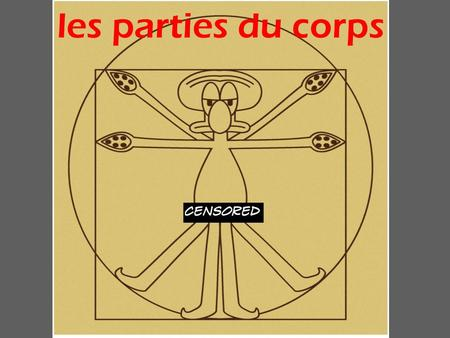 "Les parties du corps. le corps (le corps humain) ""le corr"" the body USMC, the United States Army Corps of Cadets See I Corinthians 12:12."