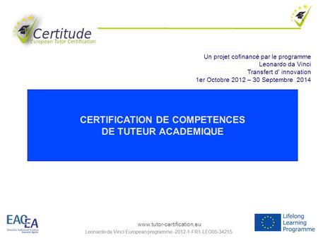 CERTIFICATION DE COMPETENCES