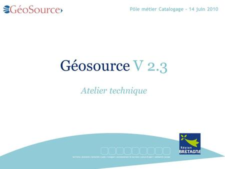 Géosource V 2.3 Atelier technique