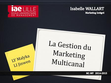 La Gestion du Marketing Multicanal LY Malyka LI Jinwen.